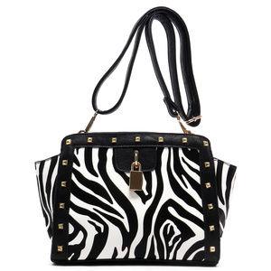 Handbags - Zebra Studded Handbag